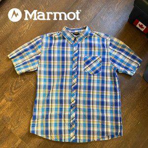 Marmot Echo Button Down Plaid - Large